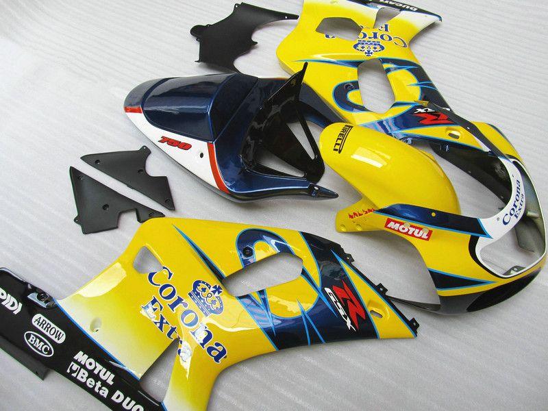 Misura SUZUKI GSXR 600 750 Kit di carenatura GSX-R600 GSX-R750 2001 2002 2003 gsxr600 gsxr750 00 01 02 03 Corona BODYWORK