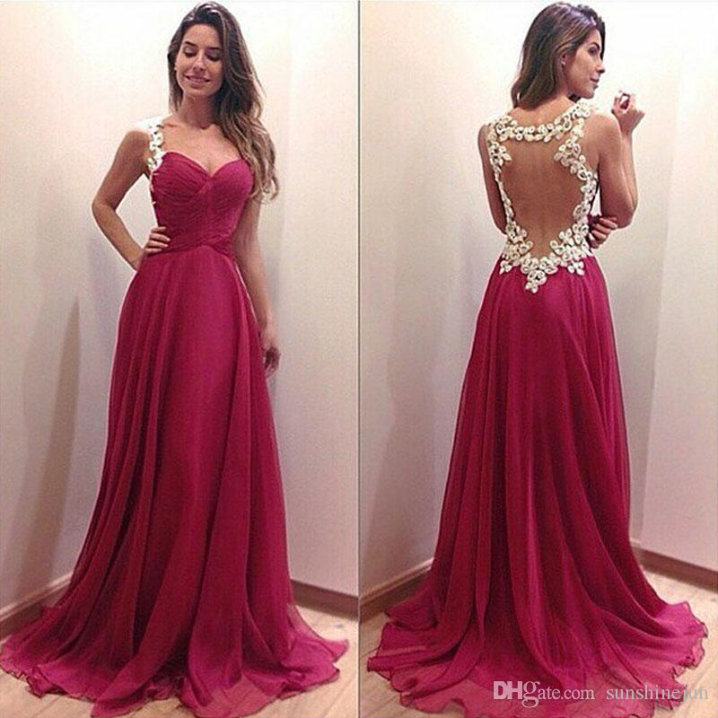 Plus Size Prom Dresses With Sexy Deep V Lace Backless Hollow Out