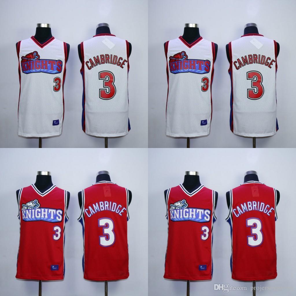 2018 Mens Cambridge Like Mike Knights Tv Jersey 100% Stitched Throwback  Basketball Jerseys White Red High Quality Fast Shipping From  Projerseysword, ...