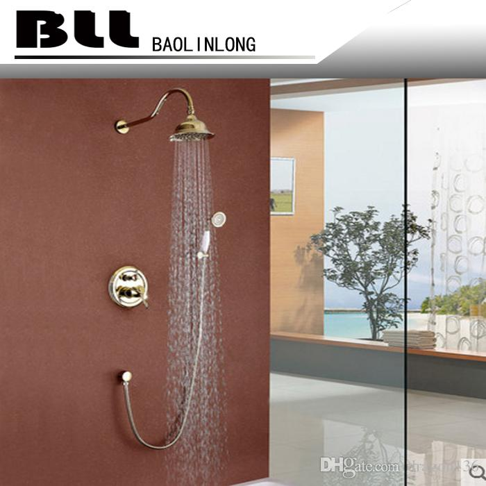 Discount Bll Tub Mixer Brass Faucet With Wider Tap Hand Shower Round ...