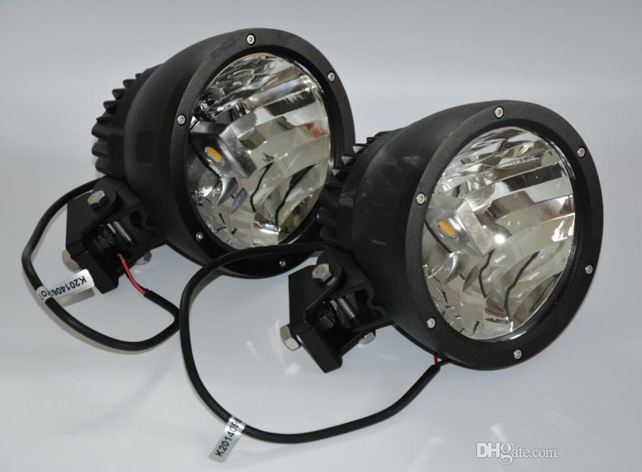 """EMS 7"""" 50W CREE LED Driving Work Light 2-COB*25W CHIP Offroad SUV ATV 4WD 4x4 Spot Pencil Beam 12/24V 5000lm Xenon White 6K Replace HID"""