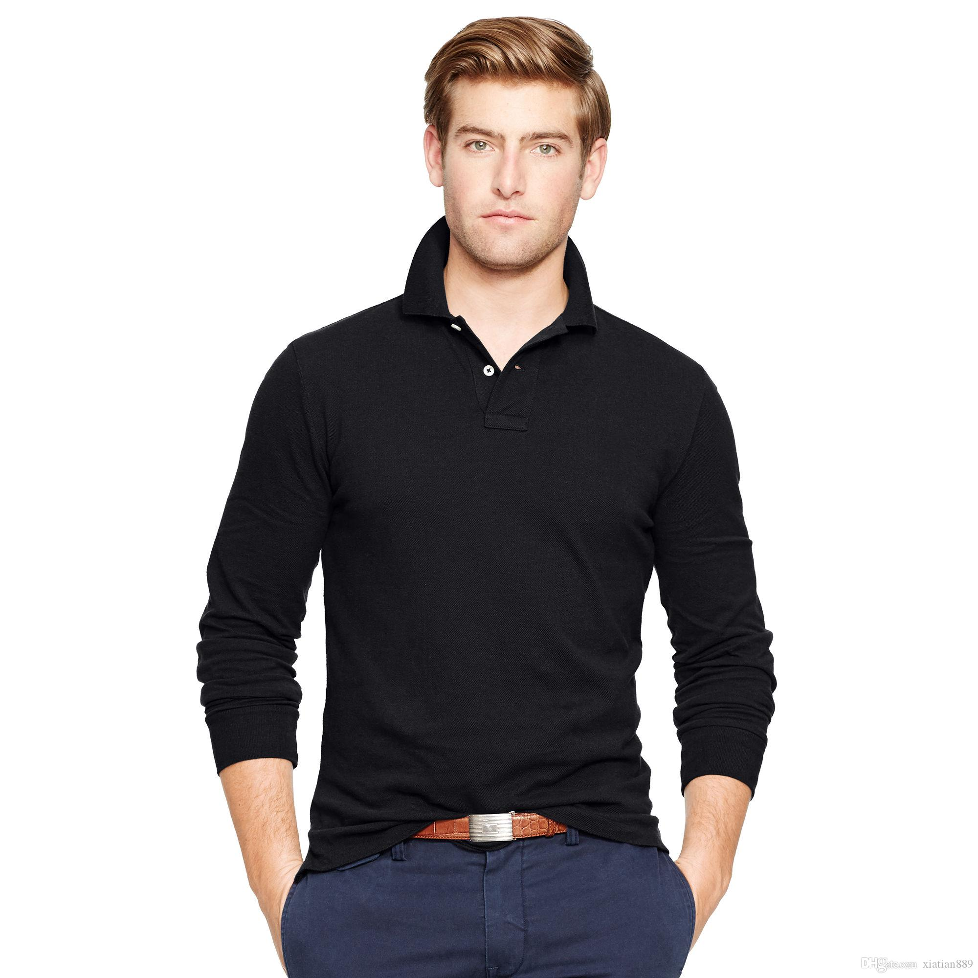 2019 2017 Autumn New Polo Shirt For Men Embroidery Luxury Casual