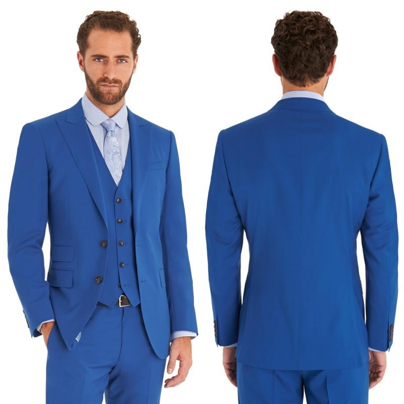 2015 Royal Blue Wedding Suits Design Mens Suits Grooms Tuxedos ...