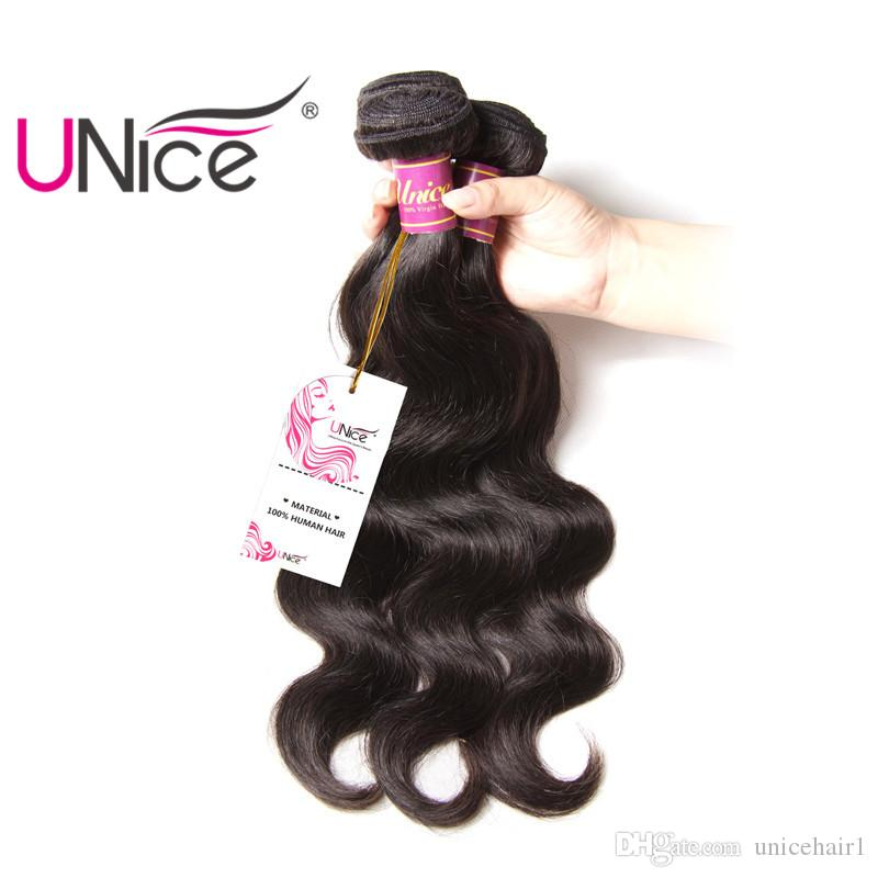 UNice Hair Body Wave Malaysian 3 Bundles Per Lot 8-30inch Mix Length 100% Human Hair Weaving Unprocessed Virgin Hair Extensions Wholesale