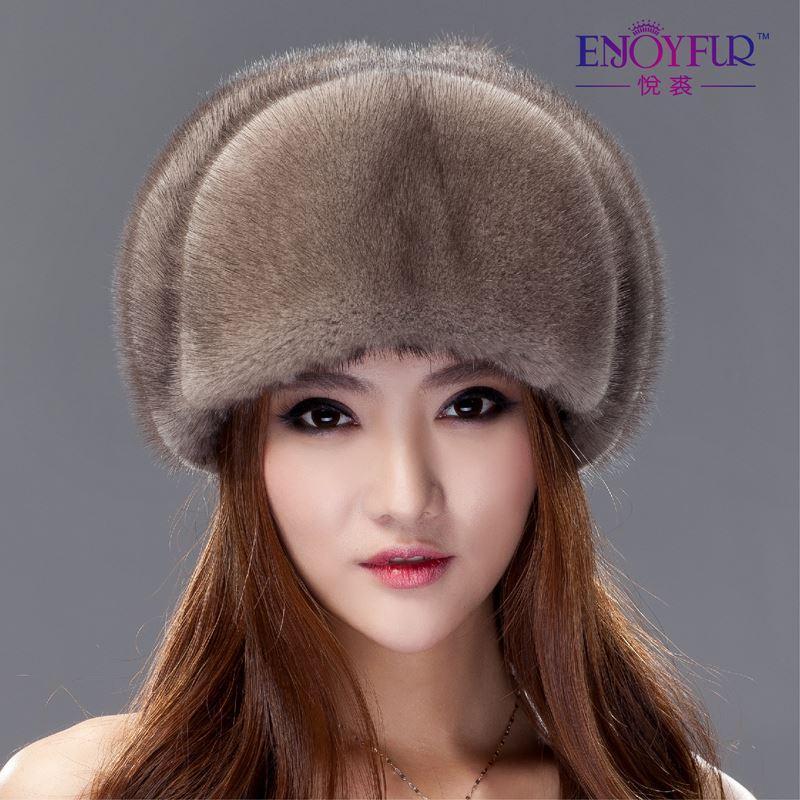 2019 Women S Mink Fur Trapper Hat Winter Brand Luxury Full Mink Russian  Ushanka Bomer Hat 2015 New Style Fashion Ear Protector Caps From Jack16669 6536af0f5e98