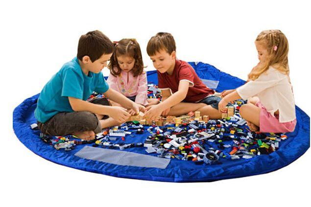 Dzieci Graj Mata Maty Zabawki Przenośne Składane Duże Nylon Torba do przechowywania Zabawki Organizator Rug Box Lalki 150 cm Niebieski Różowy XL