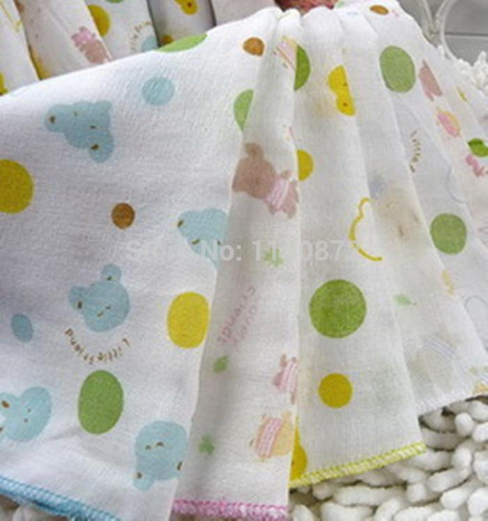 30x30cm Baby Gauze Muslin Squares Washcloth Baby Wipe Sweat Absorbing Towels,Baby soft Handkerchief,100% Cotton Towel