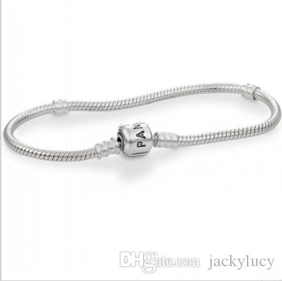 Fashion Pandora Snake Chain for 925 Silver Plating Bracelet DIY Jewelry Charms Chain fit European Beads
