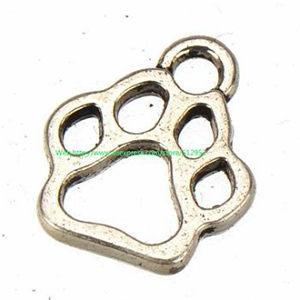 400 adet / grup yeni diy moda klasikleri takı bulma metal 3D canlı hayvan köpek ayakizi vintage gümüş bilezikler için samll charms 13 * 11mm