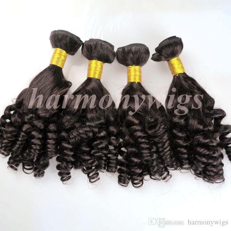 Bundles de cheveux vierges de cheveux brésiliens tissés par Funmi Trames 8-34 pouces 100% non transformés indien mongol péruvien tissant des extensions de cheveux en vrac