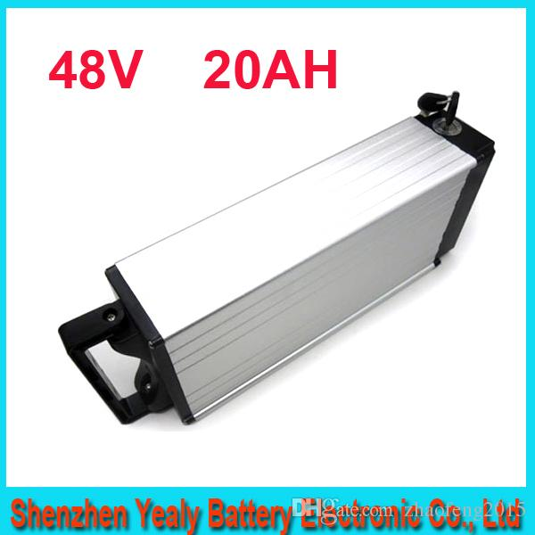 Бесплатная доставка 48 В 1000 Вт Электрический велосипед батареи Литиевая батарея ebike / камера 48 В 20Ah с BMS, 54.6 В 2A зарядное устройство