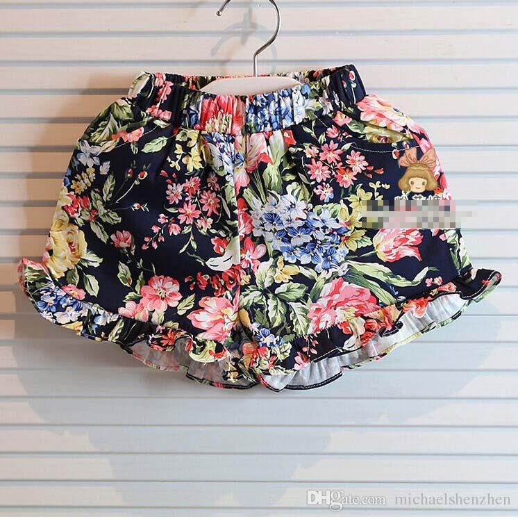 Девушки наряды лето корейский стиль мода 2 шт. наборы девушки большой лук жилет топы + цветочные шорты костюм дети принцесса шорты детские наборы C001