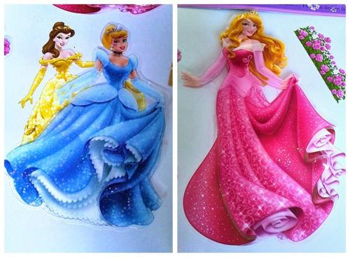 Large Princess Castle Fairy Wall Decals Wall Stickers 3D Mural Kids Room Decor