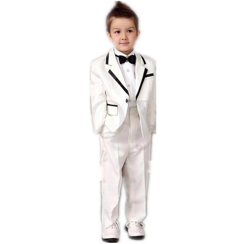 2015 Autumn New Boys White Tuxedos Wedding Attire Baby Boy Dress ...