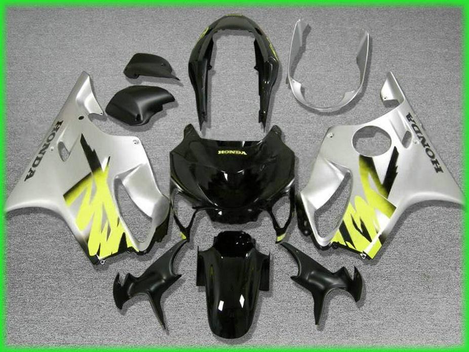 Schwarz und Silber Karosserieteile für Honda Verkleidung CBR 600 F4 1999 2000 Verkleidungen CBR600 F4 99 00 VBZY