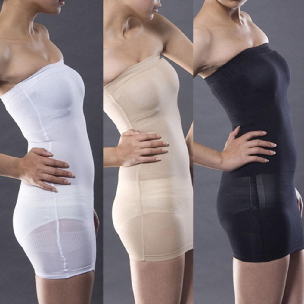 f5b0c9de2c97b Waist Spanx Control Tube Slimming Shaper Body Dress Underwear Slip ...