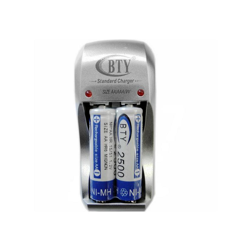 High Quality Universal AA AAA Battery Charger GOOD Standard 2 Ports EU US Plug 2500mAh Rechargeable NiMH