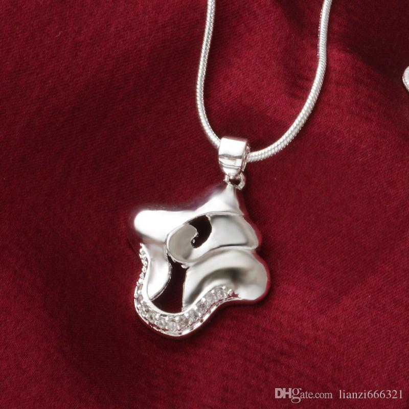 Livraison gratuite mode haute qualité 925 paniers en argent avec des bijoux en diamants collier en argent 925 cadeaux de vacances de Saint Valentin chaud 1654
