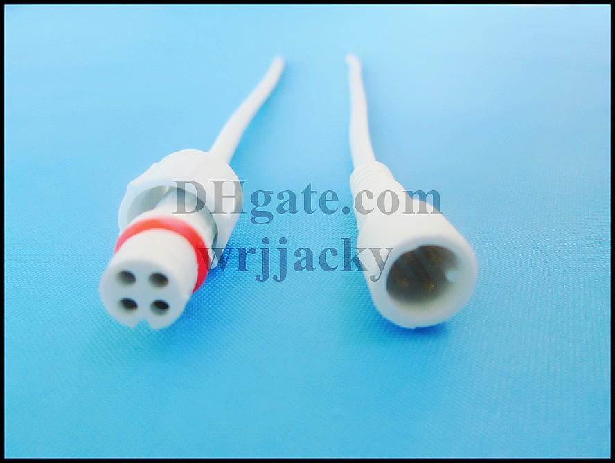4 pin waterproof mini led wire cable connector male and female for low voltage RGB LED lightings 20cm 4 pin IP65 waterproof CE