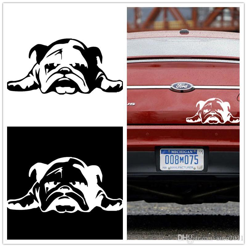 Großhandel Englisch Bulldog Müde Welpen Hund Vinyl Kleber Auto