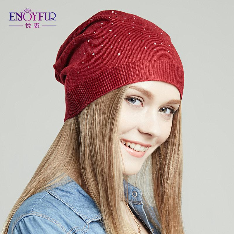 5d74e2592f6 Wholesale ENJOYFUR Women Hat For Spring Knitted Skullies Street Fashion Hats  2017 New Arrival Casual Caps Good Quality Female Hat Trucker Caps Summer  Hats ...