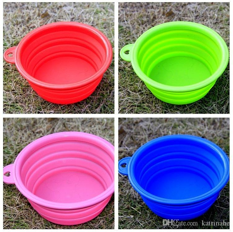 Portable Dog Pet Travel Collapsible Food Water Bowls Pets: 2019 High Quality Portable Dog Cat Pet Puppy Collapsible