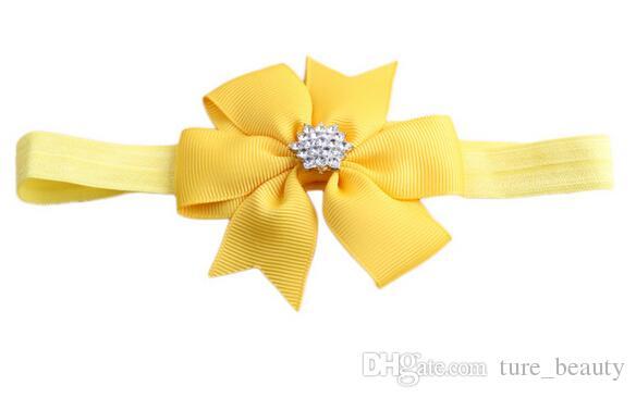 Baby Bogen Strass Stirnband Haar Bowknot Stirnbänder Infant Haarschmuck Kopfschmuck Blume /