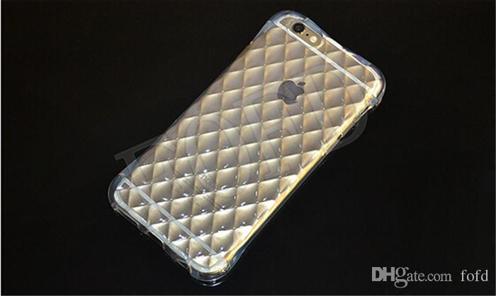 Air cushion drop resistance cellphone case for iphone 6 6s 6plus clear soft TPU Shockproof Protective shell case