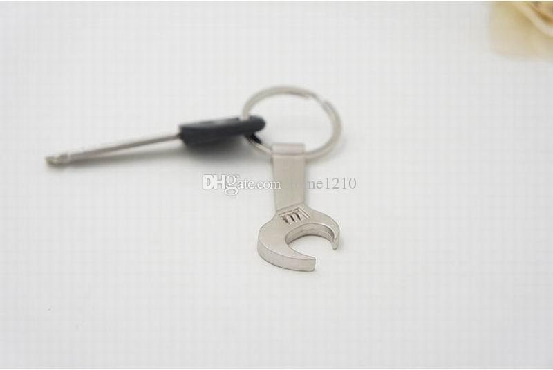 Бесплатная доставка DHL Новый творческий инструмент открывалка для бутылок брелок, ключ из нержавеющей стали гаечный ключ брелок открывалки