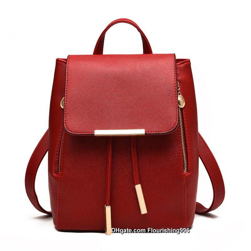 82b4a0cbba Classic Fashion Women S Backpack Bag School Bag Handbags Shoulder Purse Top  Quality Female Backpacks Black Backpack Camera Backpack From  Flourishing996