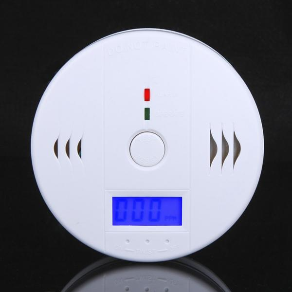 CO Carbon monoxide detector LCD Backlight Monitor Alarm Poisoning Gas Sensor Warning Smoke Detector Tester for home securtiy in retail box