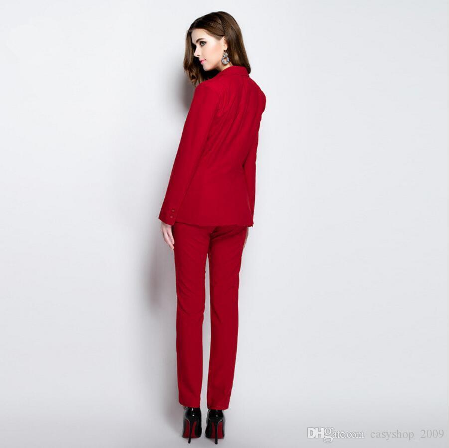 Fashion Work Bussiness Formal Elegant Women Suit Set Blazers Pants Office Suits Ladies Pants Suits Trouser Suits