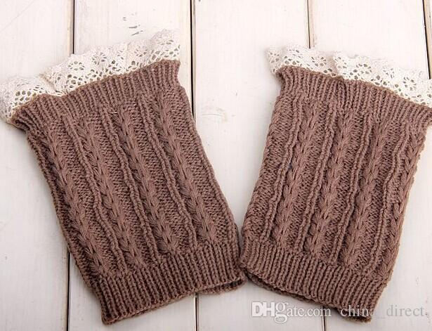 2015 Spitze Cable Knit Boot Cuff stricken Boot Topper Faux Stulpen Socke Tops stricken Stulpen Boot Stulpen 6 Farben 24 Paare / Los # 3712