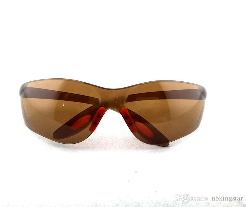 البني نظارات السلامة نظارات واقية متعددة الأغراض نظارات دافئ الرياح الغبار مقاومة للخدش مكافحة وهج والدليل 10 قطعة / الوحدة مجانية