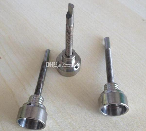 GR2 Titanyum Tırnak Carb Kap 14mm18mm Evrensel Cam Bong Nargile Fabrika Fiyat Sigara Boru Titanyum Çivi