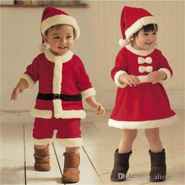 2018 children christmas clothing set boys girls christmas suit and dress santa claus costumes stage cosplay clothes from aliex2017 1773 dhgatecom