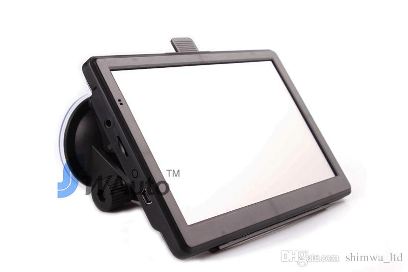 7 pollici GPS auto Navigatore navigatore GPS wince 6.0 800 MHz 128 M 4G 800 * 480 FM tansmitter gratis USA europa newst maps