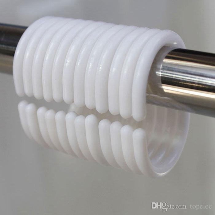 Curtain hooks plastic glide slide hooks for shower curtain rollerball hooks  free shipping DHL60139