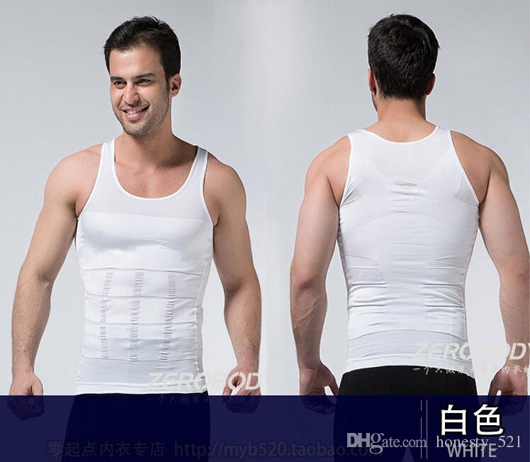 Men'S Shapewear Shaping Vest Jacket Sports Bra Abdomen Fat ...