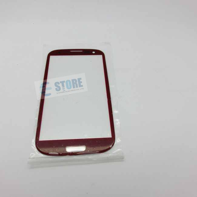 استبدال عدسة الشاشة الأمامية الزجاج الخارجي لسامسونج غالاكسي S3 9300 ، أبيض أسود قطرة الشحن M