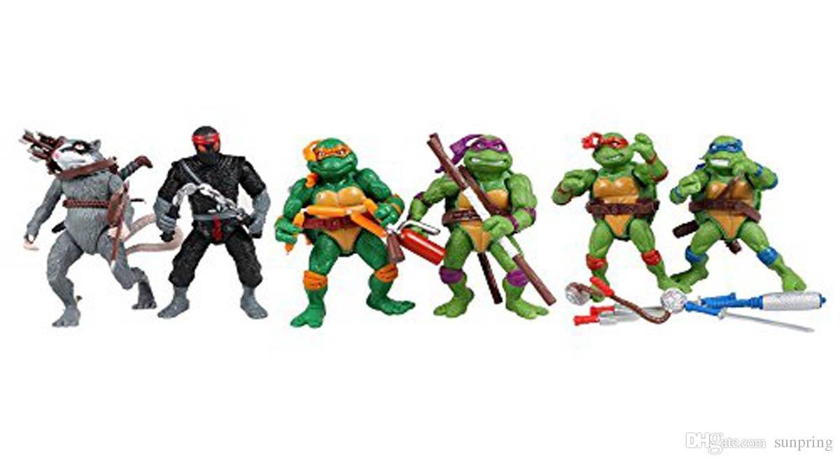 Action Figur TMNT Teenage Mutant Ninja Turtles Modell Spielzeug Sammlung 12cm