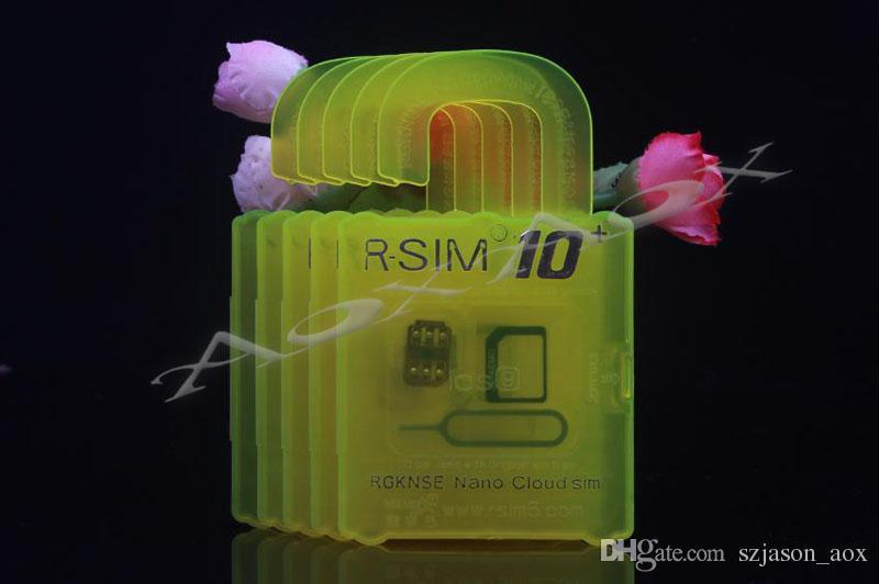 RSIM 10+ RSIM 10+ RSIM10 + Unlock Card PLUS Для iPhone 6S 6 6plus 5s 4s Совершенная Unlock ATT T-Mobile Sprint WCDMA GSM CDMA DHL / много