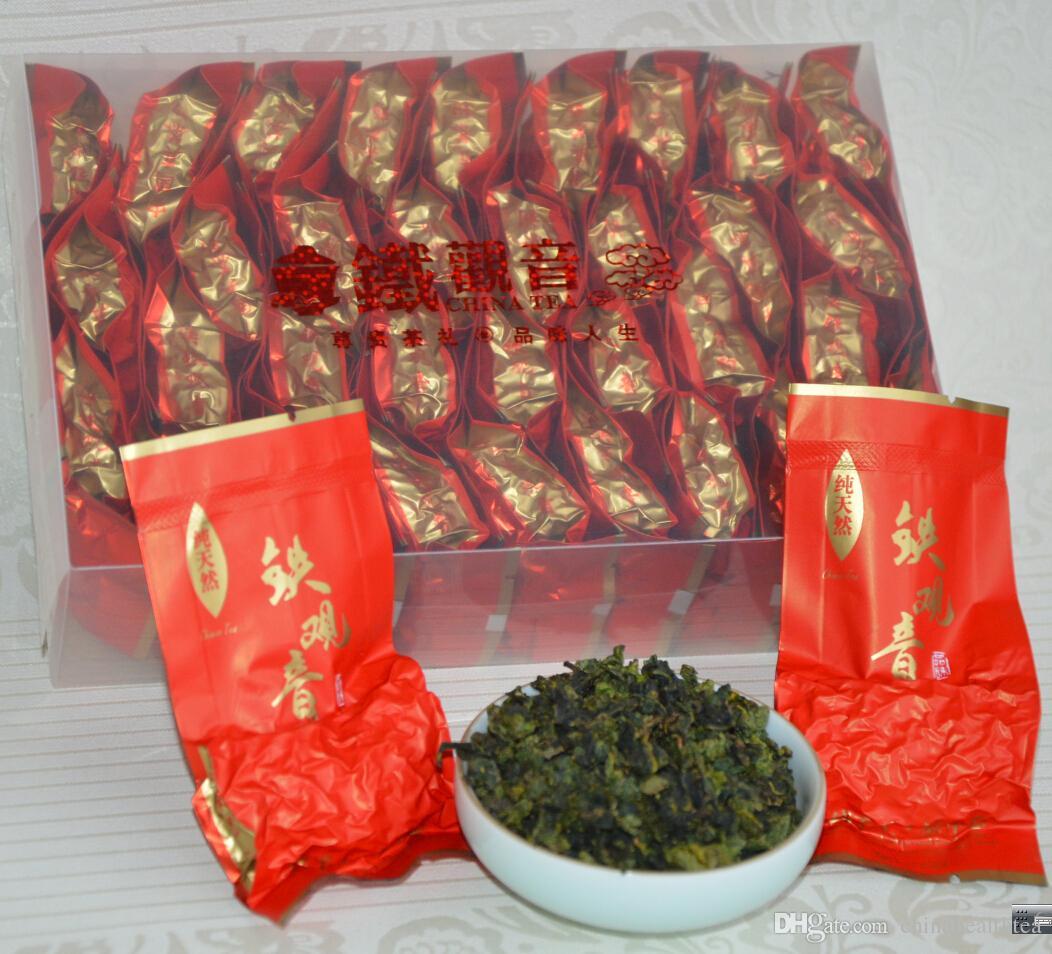 Haute Montagne Anxi Tieguanyin thé Livraison gratuite Chine Oolong Chine Fujian Tie Guan Yin thé Tikuanyin Santé thé 64 PETITS Sacs
