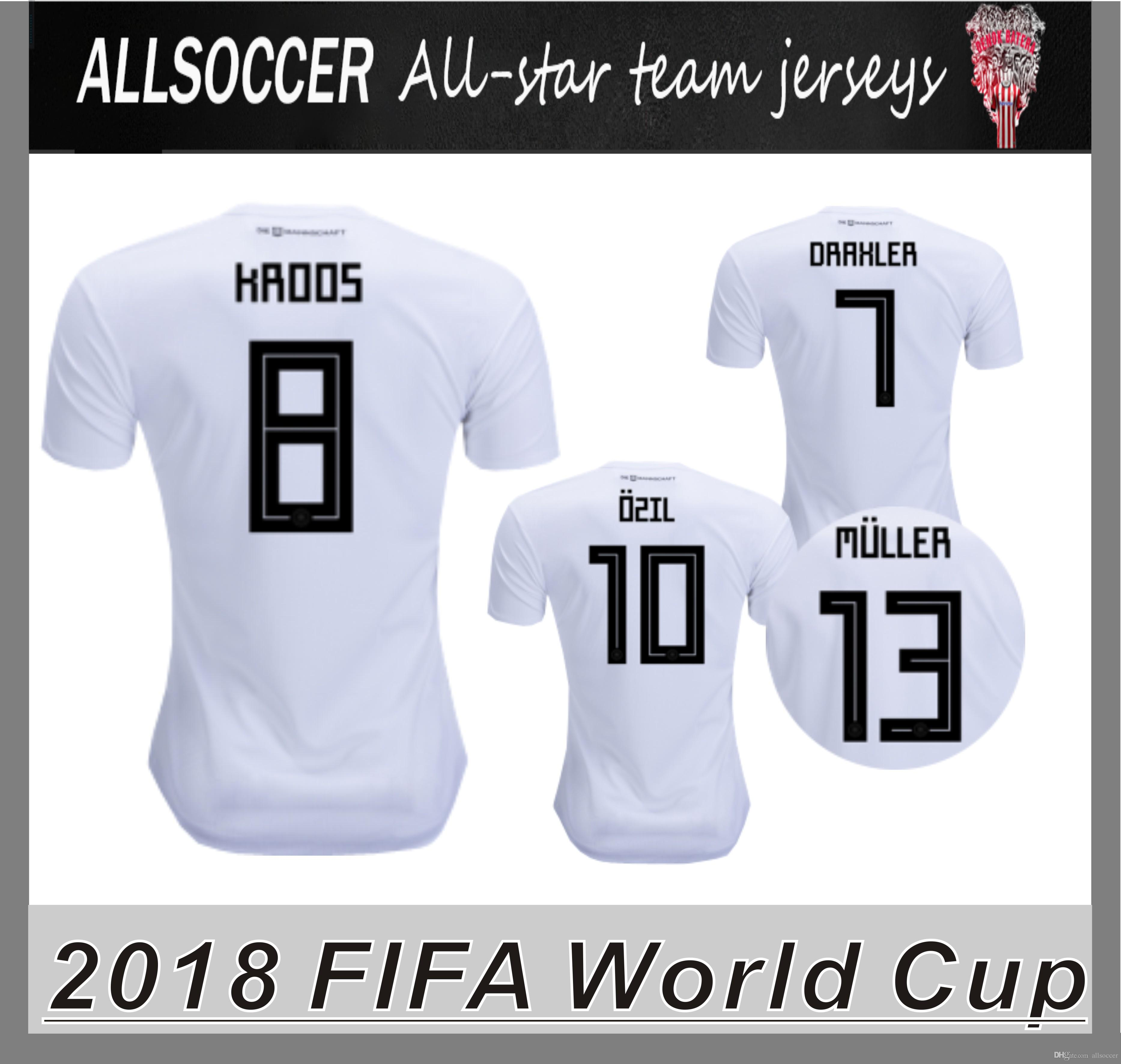 new styles c615a 8f66c 2018 world cup JERSEYS Football jerseys Mats Hummels Leon Goretzka Julian  Draxler Thomas Muller Toni Kroos Mesut Ozil Timo Werner