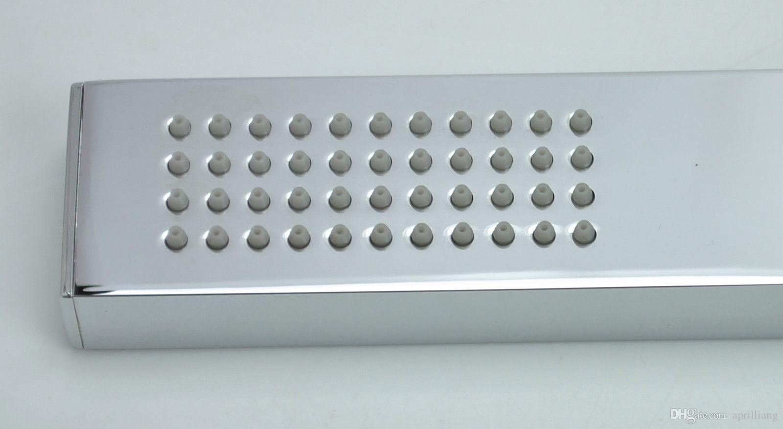Bathroom Brass Square HandHeld Shower Head with Brass Wall bracket Holder Stainless Steel 1.5m Hose