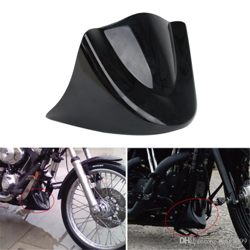 Motorcycle Accessories & Parts Gloss Black Motorcycle Front Chin Spoiler Air Dam Fairing Windshield Mudguard For Harley 2006-2017 2014 2015 2016 Dyna Models
