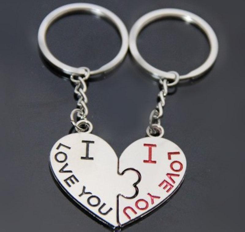 DHL Amanti dei bambini Lega portachiavi a forma di cuore Portachiavi 2016 NUOVO Cupido freccia coppia portachiavi ciondolo portachiavi B