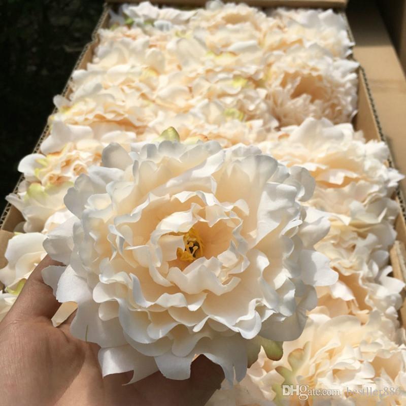الزهور الاصطناعية رؤساء الحرير زهرة الفاوانيا حفل زفاف الديكور إمدادات محاكاة وهمية رئيس زهرة ديكور المنزل 15cm وبالجملة