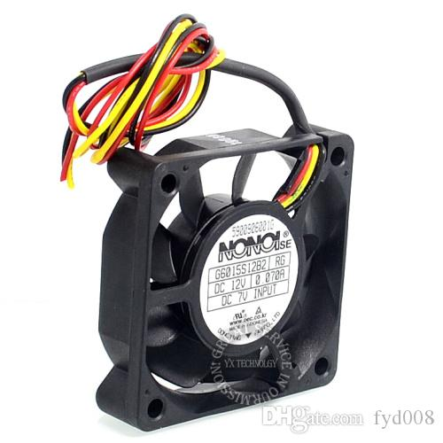 G6015S12B2 12V 0.07A 6015 Samsung DLP TV مروحة التبريد الصامت لغير 60 * 60 * 15MM