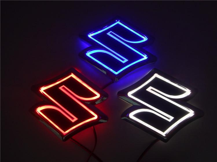 New 5D Auto standard Badge Lamp Special modified car logo LED light auto emblem led lamp for SUZUKI Alto/Jimny